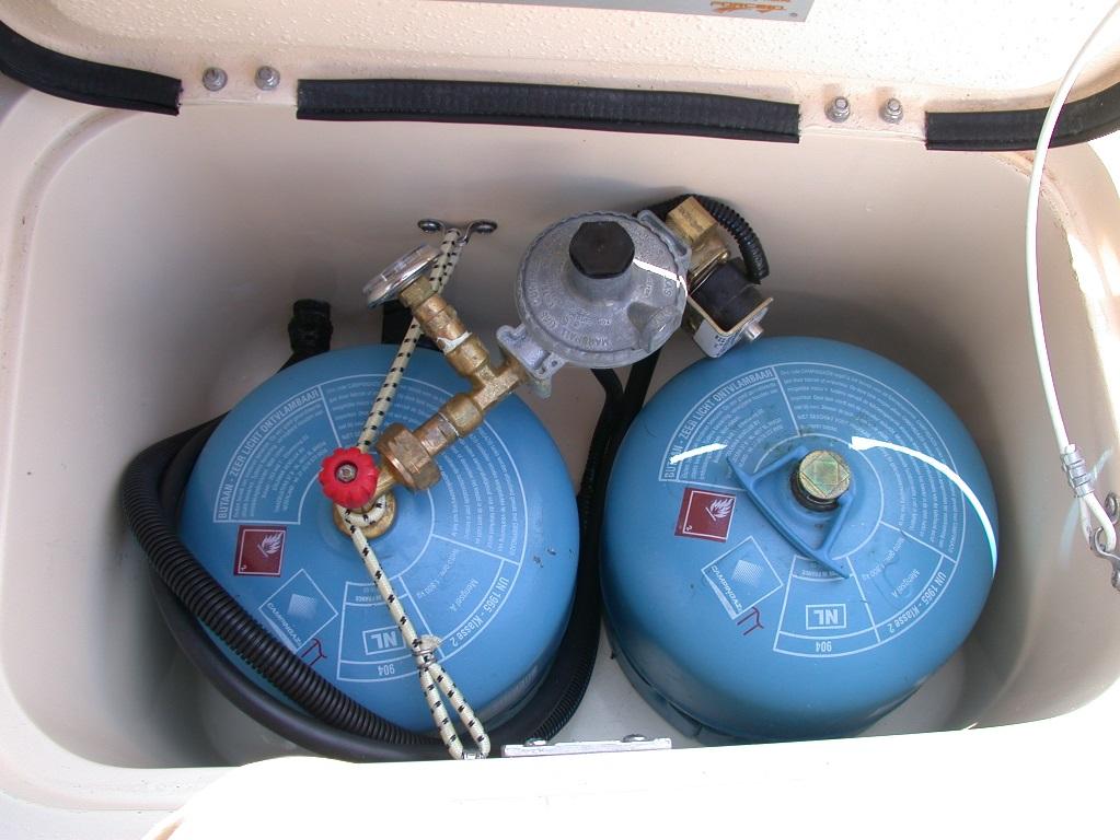 Controleer de ventilatie van de gasbun