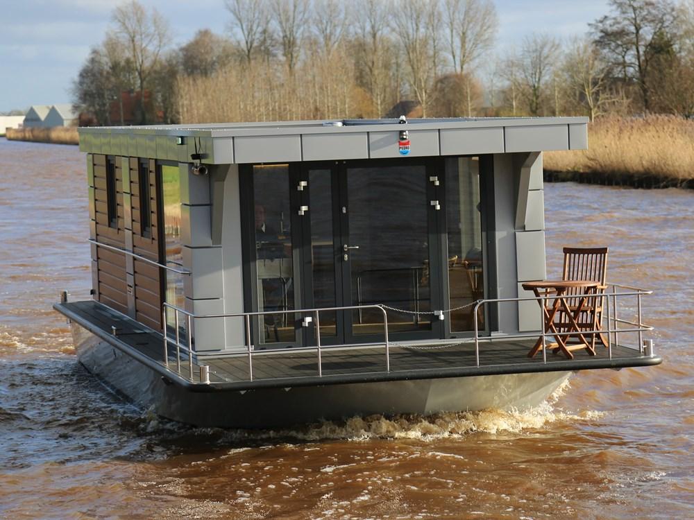 Een woonboot die goed kan varen