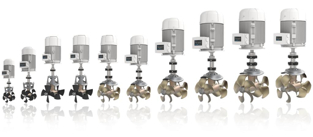 ASA heeft een range AC elektrische thrusters in het leveringsprogramma met deSAC thrusters.