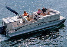 Pontoon boats are great for entertaining, fishing and watersports